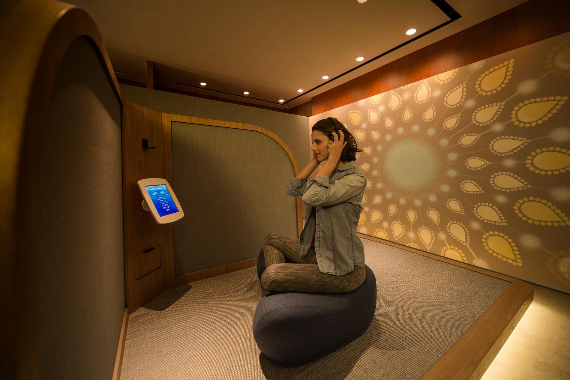 Yoga aeroporto benessere