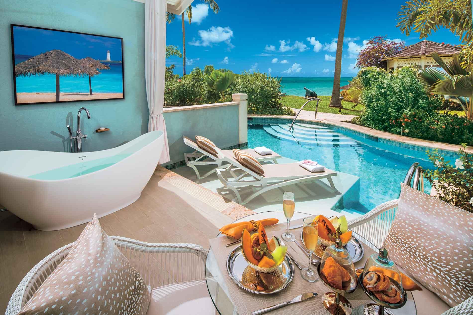 Sandals Halcion St Lucia patio