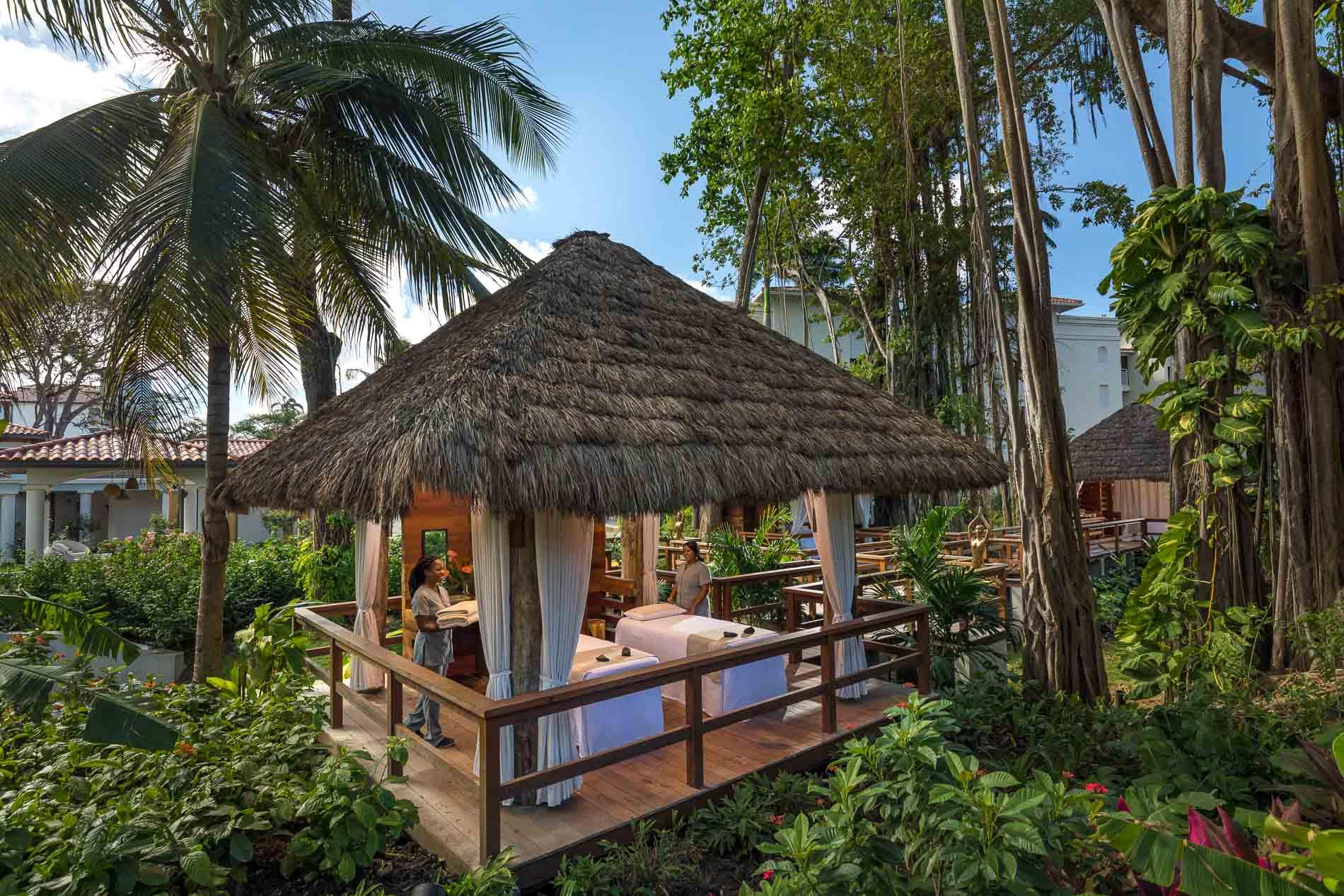 Un bungalow trattamenti nei Sandals Saint Lucia